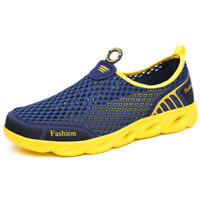 Outdoor Men's Breathable Mesh Running Lightweight Shoes Slip On Water Sneakers
