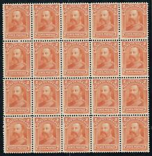 Newfoundland No. 81 Mint Never Hinged Very Fine Block of 20