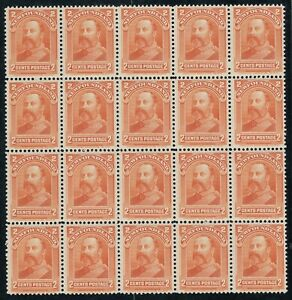 Newfoundland #81 Mint Never Hinged Very Fine Block of 20