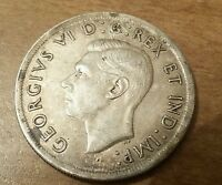 Canada 1939 1 Dollar Silver King George VI