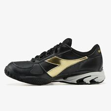 new concept 75fc8 f2a44 NWOB DIADORA - Unisex S Star K Elite Ag Tennis Shoes Black and Gold