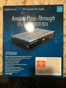 Analog Pass-Through DTV Converter Box DTX9950 - Used - All Parts + Original Box