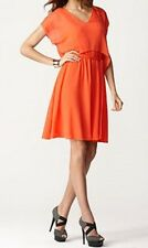 M60 Miss Sixty Dress Sz 2 Tangerine Chiffon Waist Tie Business Cocktail Dress