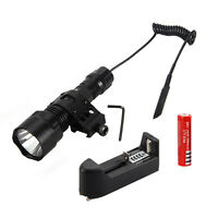 5000Lm XML T6 LED Tactical Flashlight Torch Shotgun/Rifle Picatinny Weaver Mount