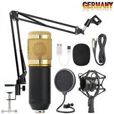 ST-800 Pro Kondensator microphone Mikrofon Kit Komplett Set für Studio Aufnahme