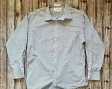 VTG Burberrys Of London Striped Long Sleeve Button Front Shirt Mens Size 16 / 33
