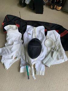 Fencing SET Triplette USA Jacket 38 Female M Gear Bag Sword Glove Mask