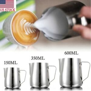3 Sizes Stainless Steel Milk Craft Coffee Latte Frothing Art Jug Pitcher Mug Cup