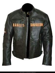 Harley Dividson Motorbike Original Cowhide Leather Jacket CE Approved Protection