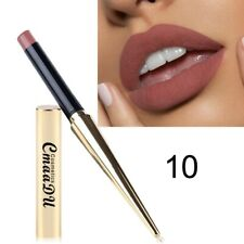 Gold matte pencil waterproof lip gloss durable light color sexy red lipstick #10