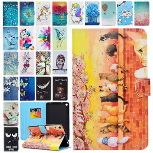PU Leather Folio Case Cover Wallet Stand for Amazon Kindle Fire 7 5th Gen 2015