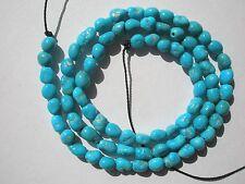 Genuine Kingman Turquoise Gemstone sm Nugget Beads - 3.5-4.5x5-6mm - Str
