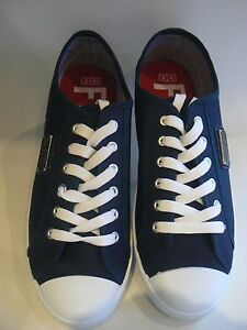 FIRETRAP Charlie Canvas Pumps Deck Shoes Navy UK Size 10 - 11 Men's NEW Boxed