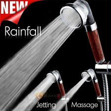 Bath Shower Head High Pressure Boosting Water Saving Filter Balls Beads Bathroom