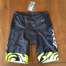 "ZOOT LTD Mens X-Large Tri Shorts 9"" Yellow Black Swim Bike Run Triathlon XL"