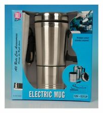 12V TRAVEL TEA COFFEE MUG CAMPING HEATED DRINKING STAINLESS STEEL WITH LID