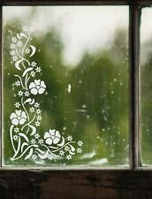 Forgetmenot Primrose Flower Frosted Etch or Stained Glass Effect Window Sticker