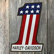 Harley-Davidson Patriotic Number One (1) Tin Metal Sign 12 X 18 Inch 2010191