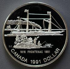 1 dollars argent pièce Frontenac Canada 1991 -0109 -