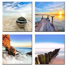 Wall Decor Seascape Framed Canvas Print for Home Decorations Giclee Artwork Sea