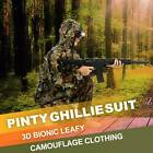 Jungle Ghillie Suit Leafy Hunting Jacket Pants w Zipper for Games Airsoft Sniper