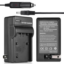 NP-FH50 Wall & Car Charger For Sony NP-FH40 NP-FH30 Alpha A230 A290 A330 A380