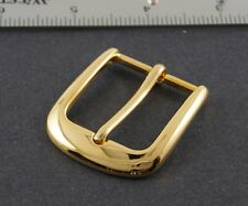 """Prong pin 1 1/4"""" belt buckle (142A) excellent polished gold color finish."""