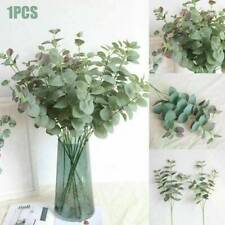 4 Heads Artificial Silk Leaves Eucalyptus Green Plant Leaves Flowers Home Decor