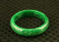 Rare Chinese Handwork Natural green Jadeite Jade Carved noble Bracelet gift