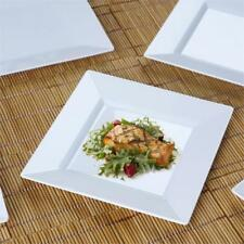 """10/pk  White 6.5"""" Square Disposable Plastic Plate  Catering"""