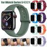 Für Apple Watch Series 5 4 3 2 1 Silikon Ersatz Band Sport Armband 40mm 44mm