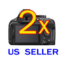 2x Clear LCD Screen Protector Guard Shield Film For Nikon Digital SLR D5200