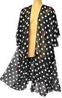 One Size Fits All TS TAKING SHAPE Polka Dot Sequin Cape chic sheer coverage NWT!