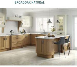 Broadoak Natural Oak Kitchen, Rigid Built Kitchens, Shaker style, Second Nature