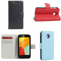 Leather Wallet Book Style Pouch Flip Case Cover For Vodafone Mobile Phone Model