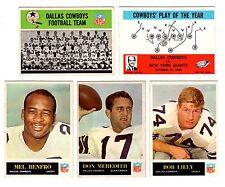 1965 Phila DALLAS COWBOYS team set--M.Renfro RC, D.Meredith, B.Lilly!!