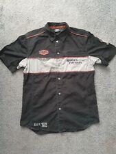 Harley Davidson Mens Ironblock Short Sleeve Shirt Black Medium