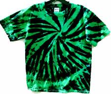 GREEN & BLACK DOUBLE DIP Hand-dyed Tie Dye T-shirt Size S M L XL 2X 3X 4X