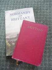 Antique Books Normandy And Brittany Related Guides as a pair bargain !