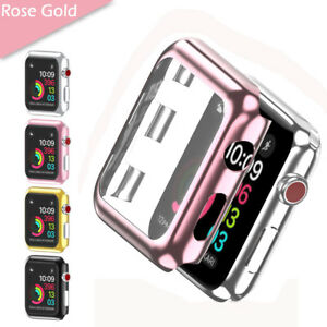 For Apple Watch 2/3/4/5/6 40/44mm Slim Full Cover Snap On Screen Protector Case