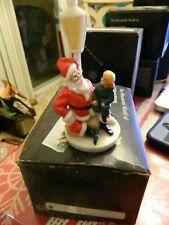 Vtg Nib Sebastian Miniatures Santa w Child on Lap at Lamppost Figurine 6222 1986