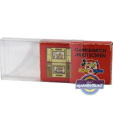 3 Nintendo Game & Watch Multi protector de pantalla de caja fuerte 0.5mm vitrina del animal doméstico