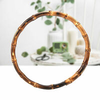 1Pcs 13cm Round Bamboo Bag Handle for Handcrafted Handbag DIY Bags Accessories