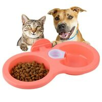 Pet Dog Puppy Hanging Food Water Double Twin Dish Bowl Feeder For Crate Cage