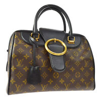 LOUIS VUITTON SPEEDY GOLDEN ARROW HAND BAG BLACK MONOGRAM M40804 M14140h