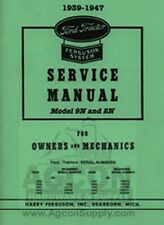 Ford 9N 2N Tractor Service Manual for Owners Mechanics