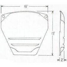 Alpenlite RV Slide Out Ram Cover / Cap FIBERGLASS  #719 Colonial White