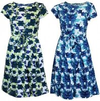 New White Stuff Ladies Blue or Green CRUSOE Lined Vintage Tea Dress Size 6 - 18