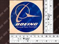 ROUND DIECUT BOEING LOGO DECAL / STICKER 3.5 x 3.5 in / 9 x 9 cm