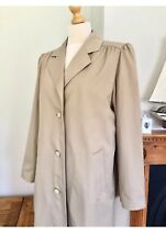 Aquascutum Ladies Vintage Stone Beige Aqua 5 Trench Coat , Size 16